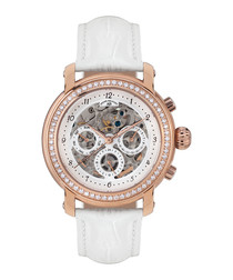 Intemporelle rose gold & white watch