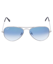 Aviator silver & blue sunglasses