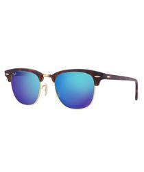 Clubmaster Havana & blue sunglasses