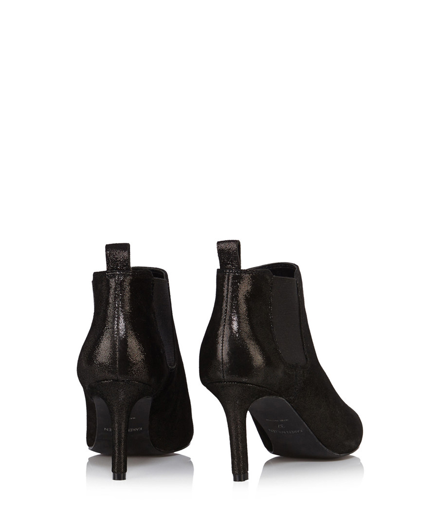 f60e81c8313eb4 ... Black leather pointed toe ankle boots Sale - Karen Millen ...