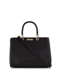 Darla black structured tote bag