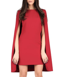 Bordeaux cape dress