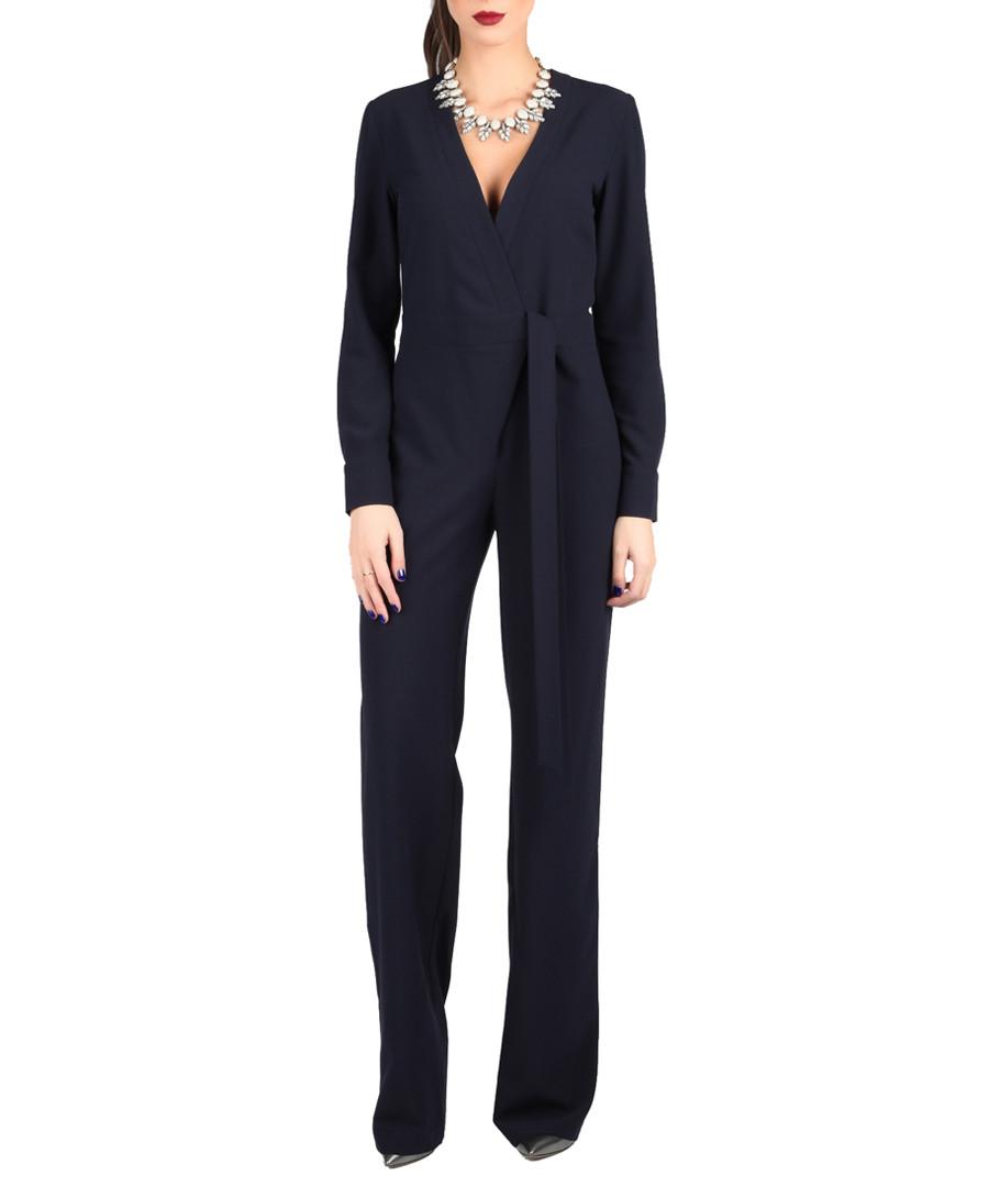 Dark blue tie waist jumpsuit Sale - carla by rozarancio