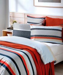Image of Cannan striped cotton pillowcase pair