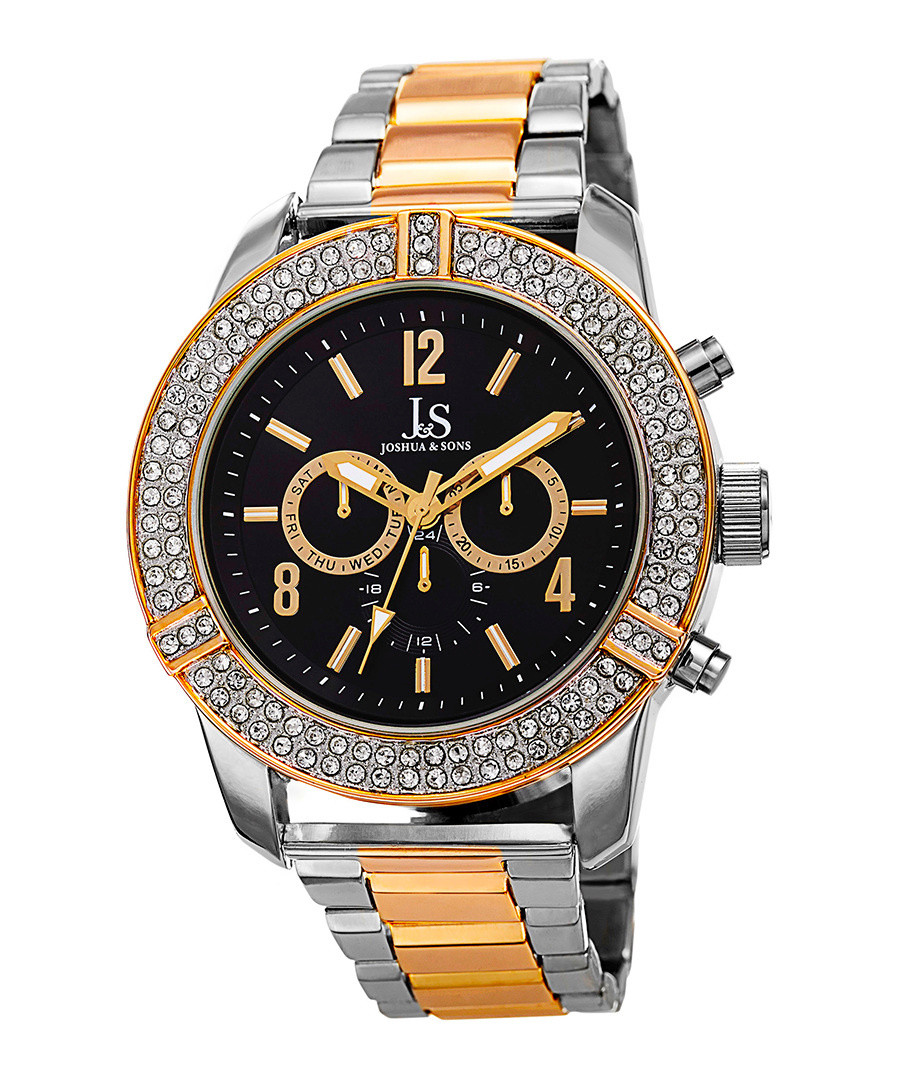 Silver-tone crystal embellished watch Sale - Joshua & Sons