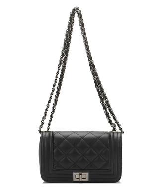 a5e7a262a8 Black leather quilted chain cross body Sale - Giulia Massari Sale