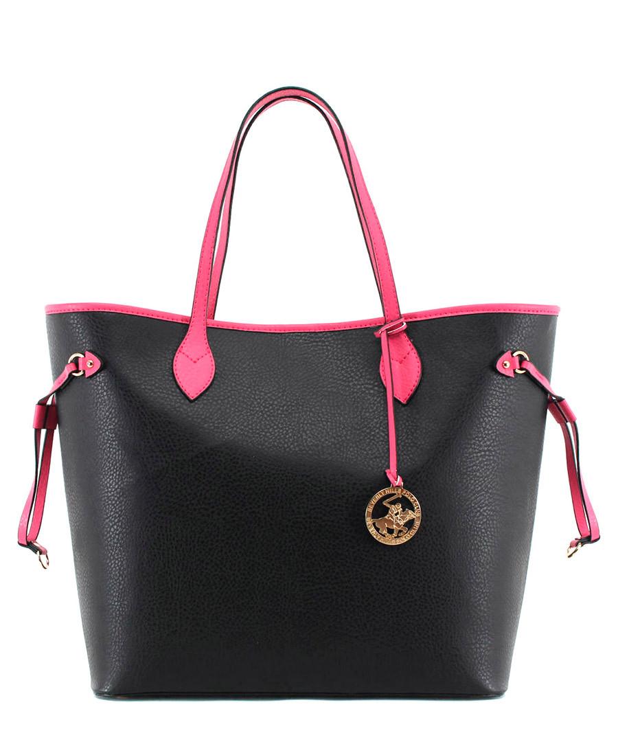 231770fe04 Black   fuchsia tote bag Sale - Beverly Hills Polo Club