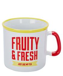Image of Fruity & Fresh red ceramic mug