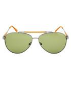 Rick silver-tone & green sunglasses