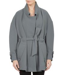 Genesis grey cotton blend coat