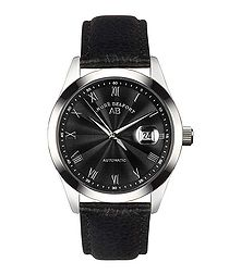 Empereur black leather watch