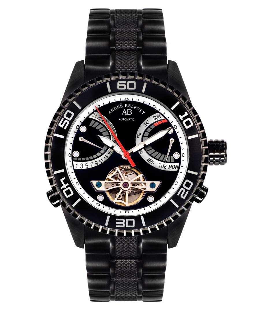 Voilier black stainless steel watch Sale - andre belfort