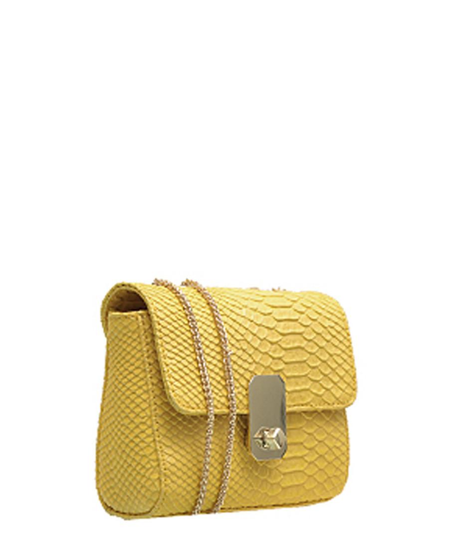 ad090b9095e47 ... Yellow leather chain cross body bag Sale - Paul Costelloe
