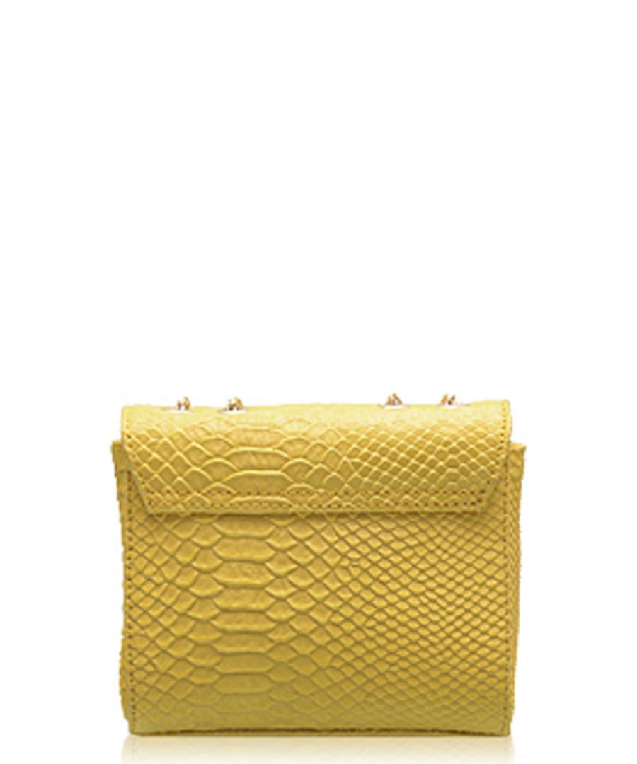 4cc25aa783a9b ... Yellow leather chain cross body bag Sale - Paul Costelloe ...