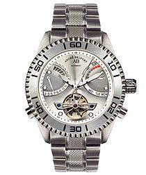 Vollier silver-tone steel watch