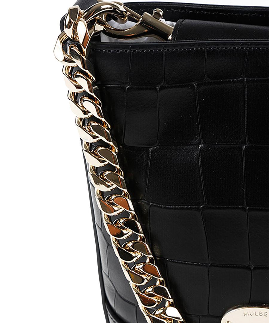 e95fb6ee64 ... Mini Jamie black leather shoulder bag Sale - Mulberry