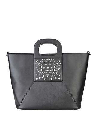 Black leather stud zip grab bag Sale - Versace Jeans Sale c69bb3391b91e