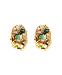 The Enchantress 14ct gold-plated studs