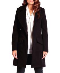 Black wool & cashmere blend coat