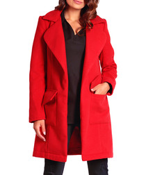 Red wool & cashmere blend coat