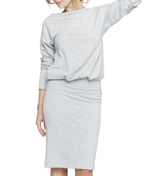 Ash long sleeve midi dress