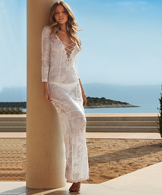 2185d8a401e Lene silver crochet maxi dress Sale - Melissa Odabash Sale