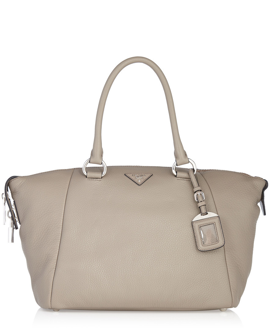 prada bag com - Prada Grey leather zip top shoulder bag, Designer Bags Sale, Prada ...