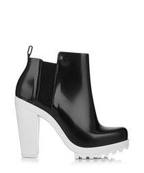 Soldier black & white rubber boots
