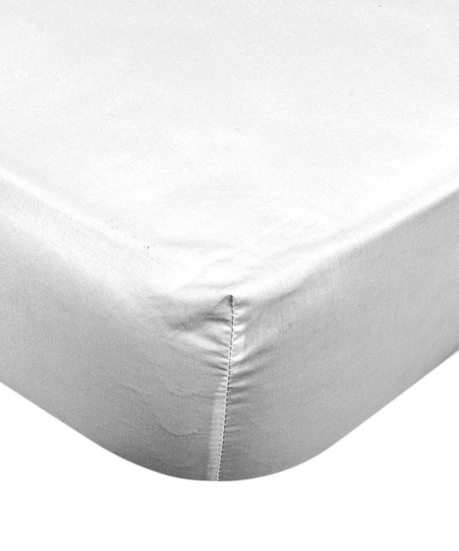 Smooth white pure cotton s.king sheet Sale - pure elegance