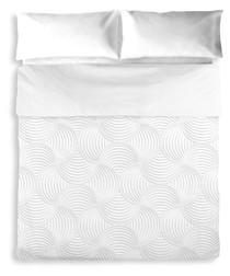 Daisy double grey cotton duvet set