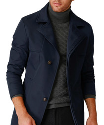 Navy two button notch lapel jacket