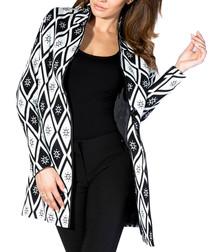 Black & white wool blend jacket