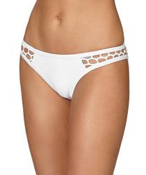 Mesh About white lace bikini briefs