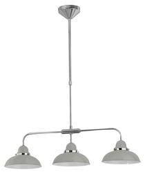 Image of Pendant light grey & chrome 3 light