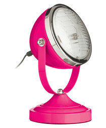 Image of Spot hot pink & chrome table lamp