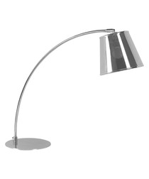 Table silver-tone lamp
