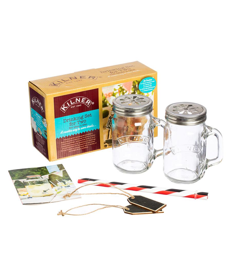 Glass mugs & straws drinks making set Sale - kilner