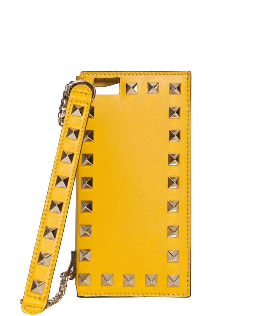 Valentino Leather iPhone 6 Holder - Yellow