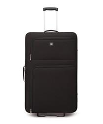 Alex black upright suitcase 77cm