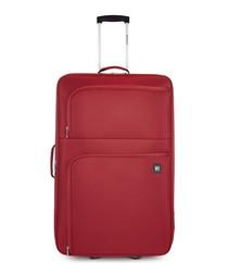 Alex red upright suitcase 77cm