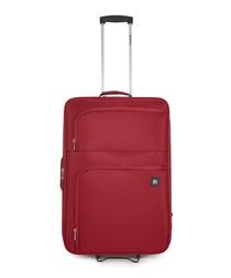 Alex red upright suitcase 66cm