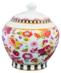 Image of Floral Madness porcelain sugar bowl