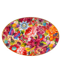 Image of Floral Madness porcelain plate 35.5cm
