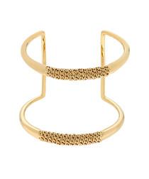Hope gold-tone chain detail cuff