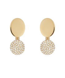Darcey gold-tone crystal drop earrings