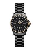 Sloane II black ceramic bracelet watch