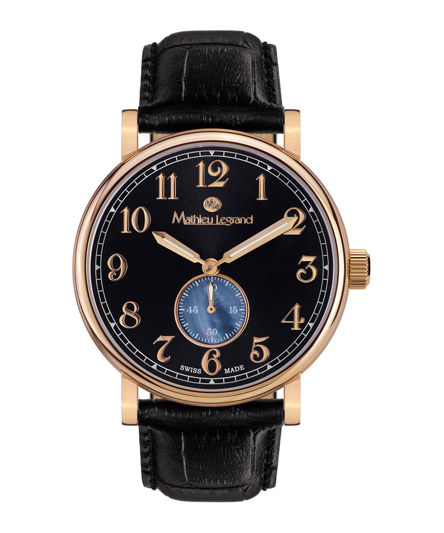 Classique IP gold-tone leather watch Sale - mathieu legrand