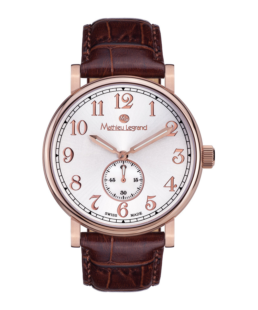 Classique IP brown leather watch Sale - mathieu legrand