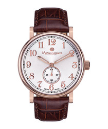 Classique IP brown leather watch