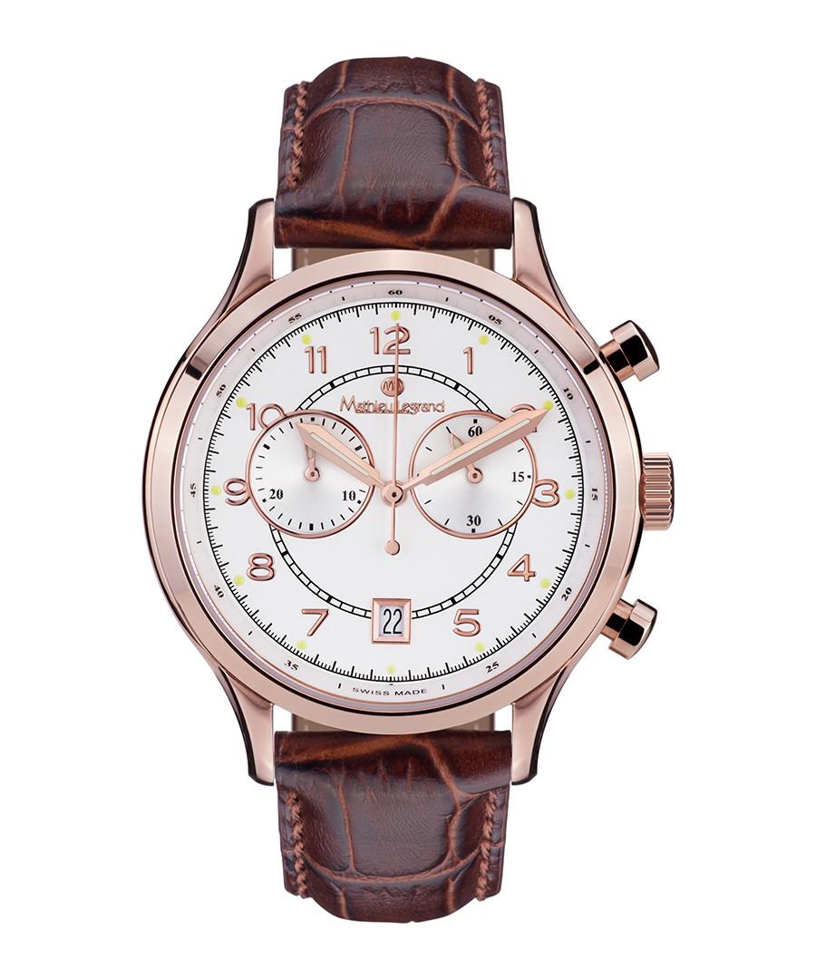 Orbite brown leather watch Sale - mathieu legrand